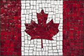 Mosaic flag of Canada — Stock Photo