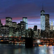New york city's nachts — Stockfoto