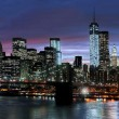 la ville de New york dans la nuit — Photo