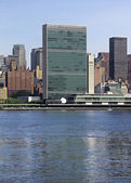 United nations headquarters in new york city,usa — Stock Photo