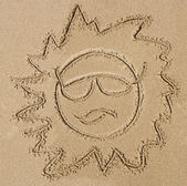 Image of the sun on the sand — Photo