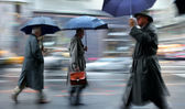 Rainy day motion blur — Stockfoto