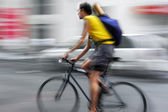 Shipping with bicycle in the city — Foto Stock