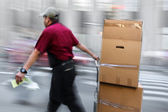 Delivery with dolly by hand — Stock Photo