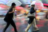 Rainy day motion blur — Stock Photo