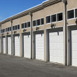 Line with  garages — Stock Photo