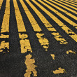 Road yellow lines — Stock Photo