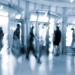 Lobby in the rush hour — Stock Photo