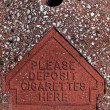 Please deposit cigarettes here — Stock Photo #34711775