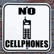 No cellphones sign — Stock Photo