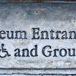 Stock Photo: Museum entrance sign
