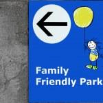familjen parkering — Stockfoto