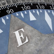 Compass on ground — Stock Photo