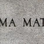 Alma Mater sign — Stock Photo #34712829