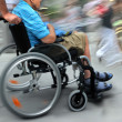 Disabled on a city street — Stockfoto