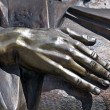 Hand of sculpture — Stock Photo