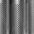 Dotted gray metal background — Photo