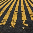 Road yellow lines — Stock fotografie