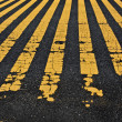 Road yellow lines — Stockfoto