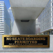 Stock Photo: No skateboarding permitted