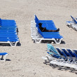 Sun loungers — Stock Photo