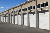 Line with garages — Stock fotografie