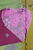 Colorful shabby wall texture — Photo