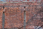 Old red brick wall — Stock Photo