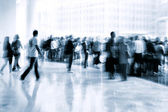 Lobby in the rush hour — Stock Photo