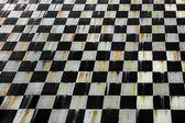 Black and white tiles pattern — Foto de Stock