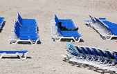 Sun loungers — Stock Photo