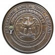 Stock Photo: Coin of federation bank, trust company
