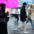 Rainy day motion blur — Stock Photo