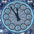 Clock - five minutes to twelve — Stock Photo