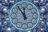 Clock - five minutes to twelve — Stock Photo