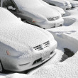 Vehicles covered with snow — Lizenzfreies Foto