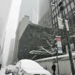 Stock Photo: Snowy winter in city