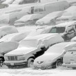 Vehicles covered with snow — Stock Photo #35728985