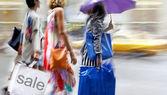 Visit the shops in city — Zdjęcie stockowe