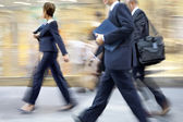 Group of business people in the street — Stock Photo
