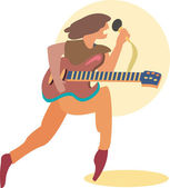 Rock Singer — Stock Vector