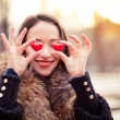 Stock Photo: Valentines day girl in love