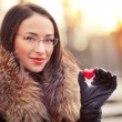 Stock Photo: Valentines day girl with gift