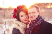 Casal feliz dia dos namorados — Foto Stock
