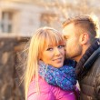 Young mkissing beautiful woman — Stock Photo #41142703