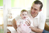 Father and his baby dauther — Stock Photo