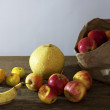 Stock Photo: Still life of mixed fruits