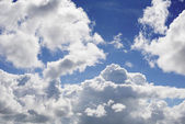 Sky in sunny day with white clouds — Stock Photo