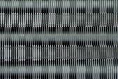 Aluminum fins of heat exchange unit of air conditioner — Stock Photo