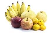 Mixed Fruits on white background — Stock Photo